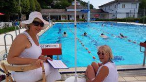 Sponsorenschwimmen im Freibad von Bad Herrenalb